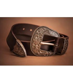 Cinturón tejano de cuero