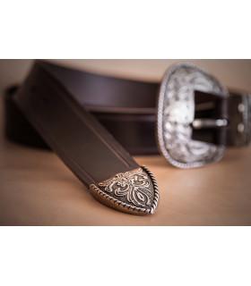 Puntera Cinturón tejano de cuero