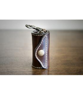 Dispensador de bolsas de cuero color chocolate